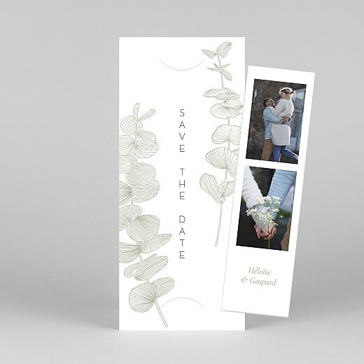 Save the Date Envolée d'eucalyptus (photomaton) vert - Vue 1