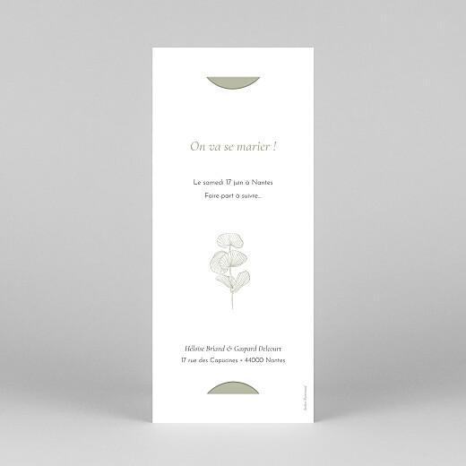 Save the Date Envolée d'eucalyptus (photomaton) vert - Vue 4