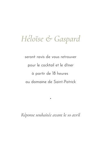 Carton d'invitation mariage Envolée d'eucalyptus (portrait) vert - Page 2