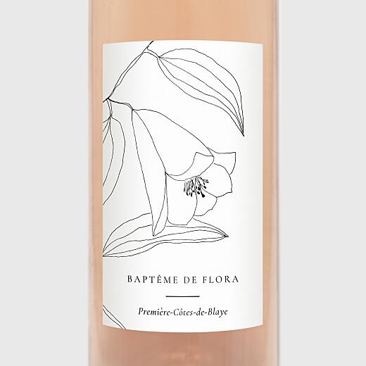 Étiquette de bouteille baptême Poésie amoureuse blanc - Vue 2