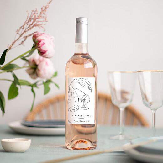 Étiquette de bouteille baptême Poésie amoureuse blanc - Vue 1