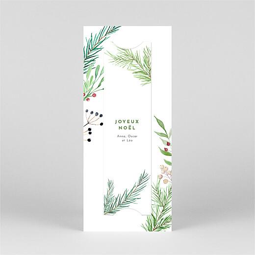 Carte de voeux Saison des vœux (marque-page) vert - Vue 3