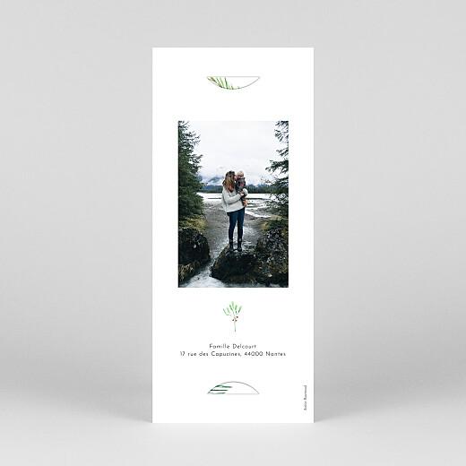 Carte de voeux Saison des vœux (marque-page) vert - Vue 4