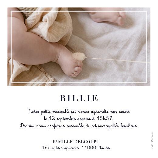 Faire-part de naissance Petite étiquette blanc - Page 2