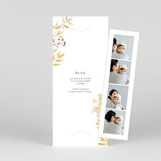 Faire-part de naissance Quatre saisons (marque-page) automne - Vue 1