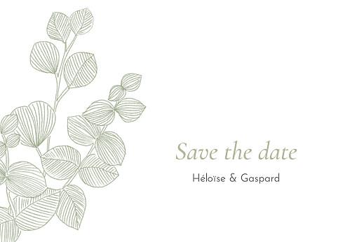 Save the Date Envolée d'eucalyptus vert