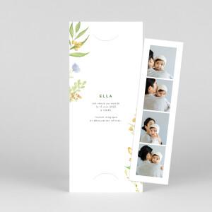 Faire-part de naissance Quatre saisons (marque-page) printemps