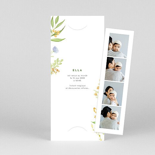 Faire-part de naissance Quatre saisons (marque-page) printemps - Vue 1