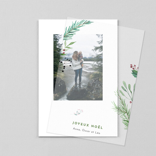 Carte de voeux Saison des vœux (calque) vert - Vue 1