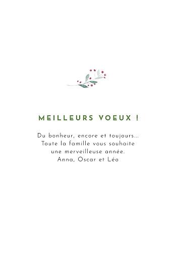 Carte de voeux Saison des vœux (4 pages) vert - Page 3
