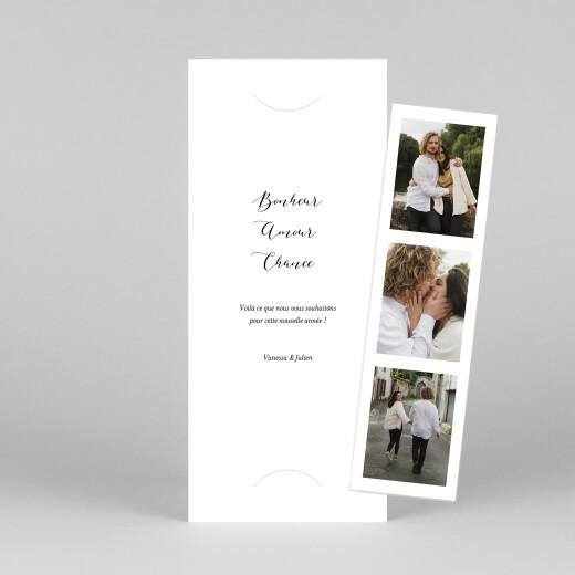 Carte de voeux Swing (photomaton) blanc - Vue 1