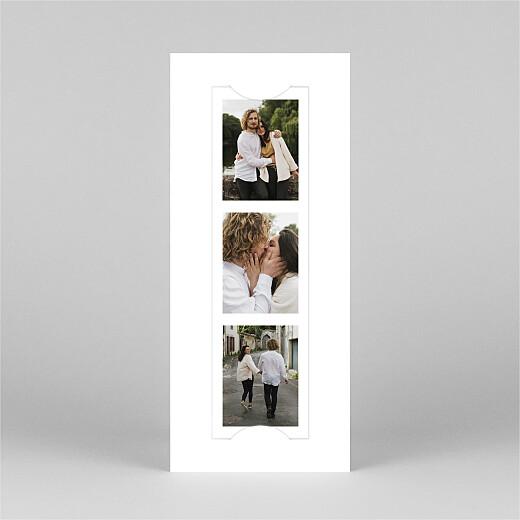 Carte de voeux Swing (photomaton) blanc - Vue 2