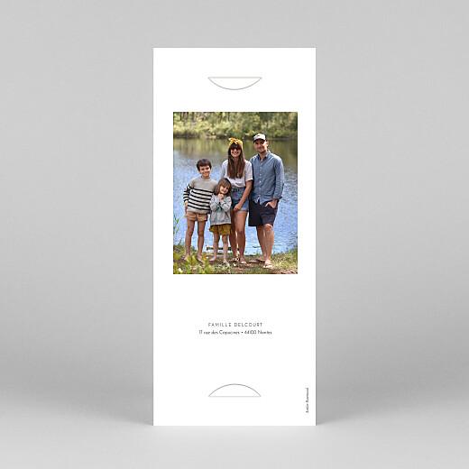 Carte de voeux Année fleurie (photomaton) blanc - Vue 4