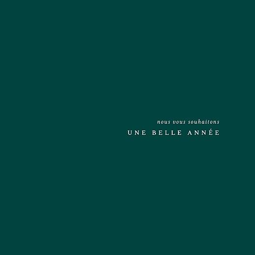 Carte de voeux Jeune pousse (dorure) 4 pages vert