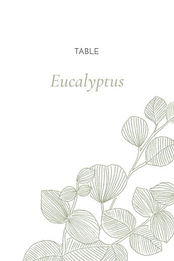 Marque-table mariage Envolée d'eucalyptus vert