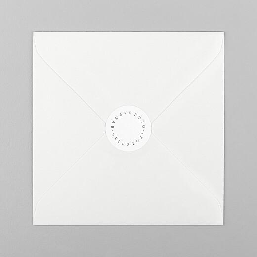 Stickers pour enveloppes vœux Hello goodbye blanc - Vue 1