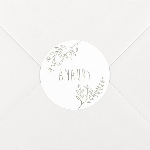 Stickers pour enveloppes naissance Ronde des prés vert d'eau - Vue 2