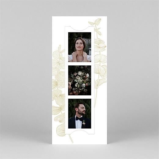 Carte de remerciement mariage Envolée d'eucalyptus (photomaton) ocre - Vue 2