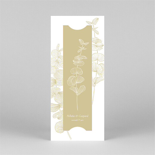 Carte de remerciement mariage Envolée d'eucalyptus (photomaton) ocre - Vue 3