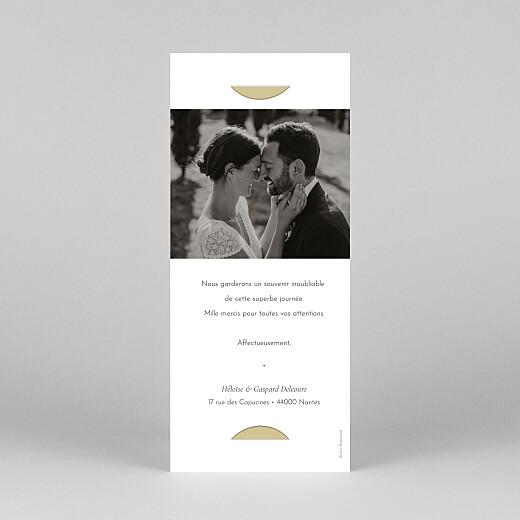Carte de remerciement mariage Envolée d'eucalyptus (photomaton) ocre - Vue 4