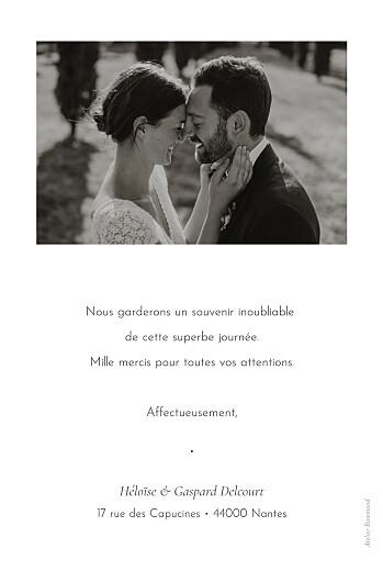 Carte de remerciement mariage Envolée d'eucalyptus vert - Page 2