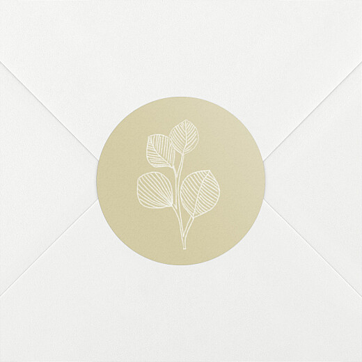 Stickers pour enveloppes mariage Envolée d'eucalyptus ocre - Vue 2