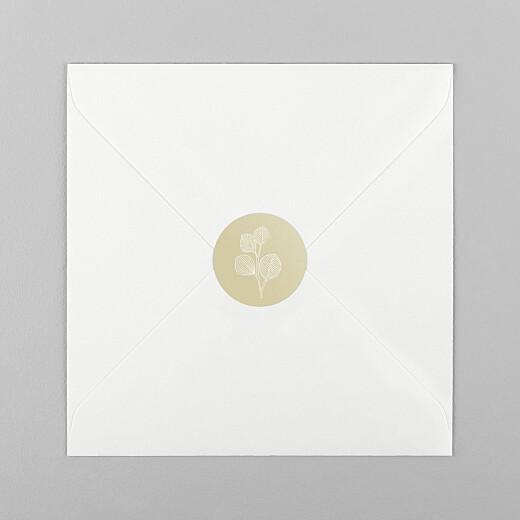 Stickers pour enveloppes mariage Envolée d'eucalyptus ocre - Vue 1