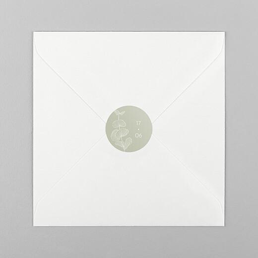 Stickers pour enveloppes mariage Envolée d'eucalyptus vert - Vue 1