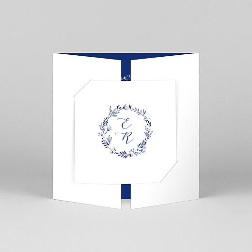 Faire-part de mariage Ronde des prés (fenêtre) bleu - Vue 1