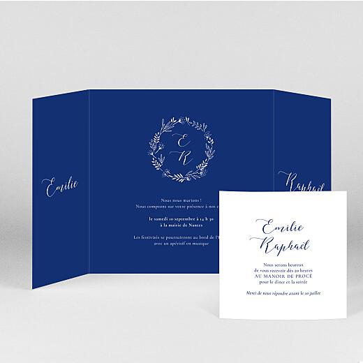 Faire-part de mariage Ronde des prés (fenêtre) bleu - Vue 2