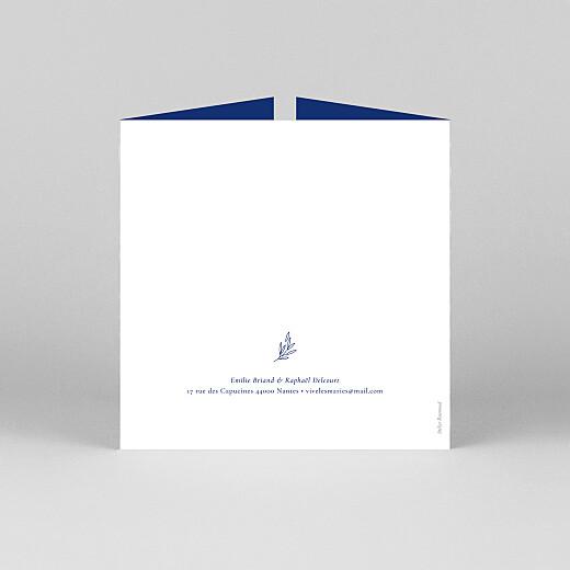 Faire-part de mariage Ronde des prés (fenêtre) bleu - Vue 3