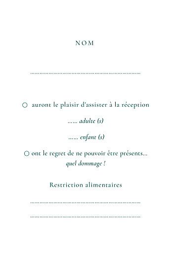 Carton réponse mariage Ronde des prés vert - Page 2