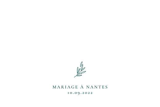Carton d'invitation mariage Ronde des prés (paysage) vert - Page 2