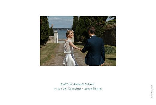 Carte de remerciement mariage Ronde des prés (4 pages) vert - Page 4