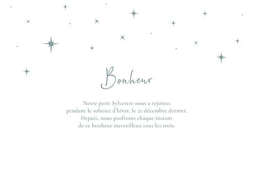 Faire-part de naissance Sous les étoiles (dorure) bleu - Page 3