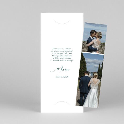 Carte de remerciement mariage Ronde des prés (photomaton) vert - Vue 1