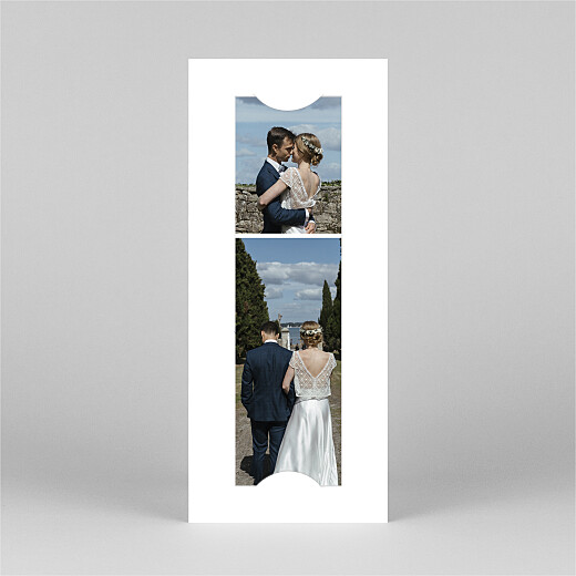 Carte de remerciement mariage Ronde des prés (photomaton) vert - Vue 2