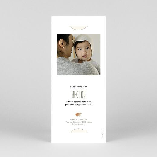Faire-part de naissance Sous-bois (marque-page) blanc - Vue 4