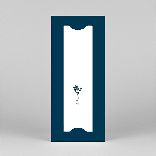 Faire-part de naissance Signature végétale (marque-page) bleu - Vue 3