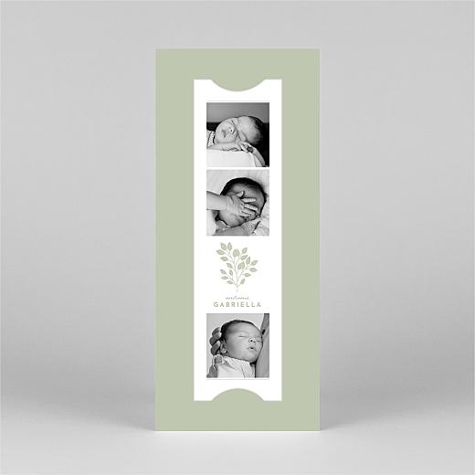 Faire-part de naissance Signature végétale (marque-page) vert - Vue 2