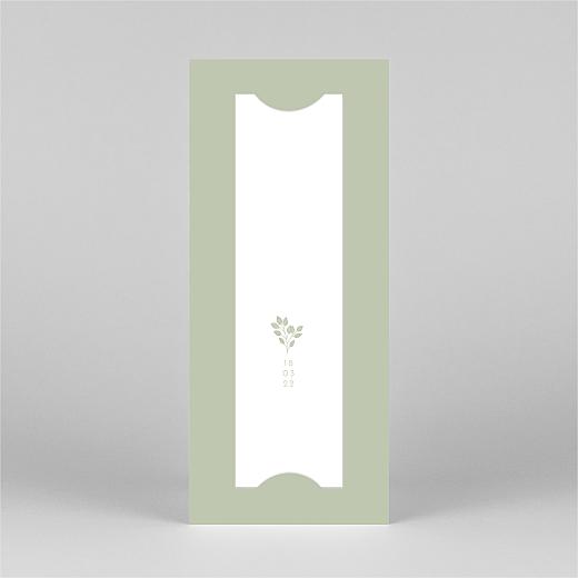 Faire-part de naissance Signature végétale (marque-page) vert - Vue 3