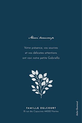 Carte de remerciement Signature végétale bleu - Page 2