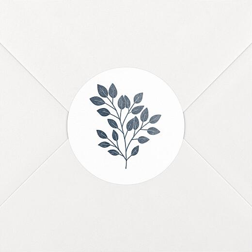 Stickers pour enveloppes naissance Signature végétale bleu - Vue 2