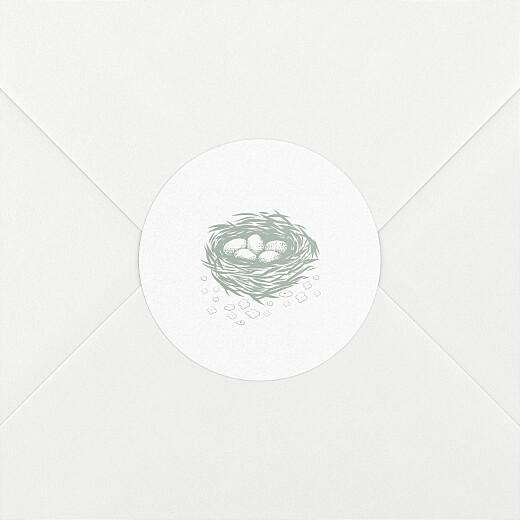 Stickers pour enveloppes naissance Histoire du soir vert - Vue 2