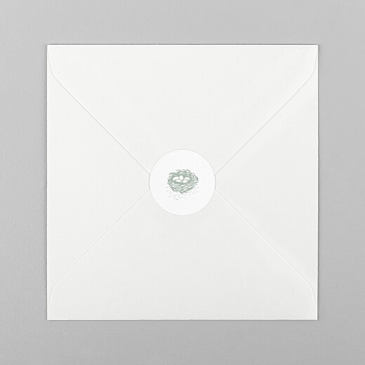 Stickers pour enveloppes naissance Histoire du soir vert - Vue 1