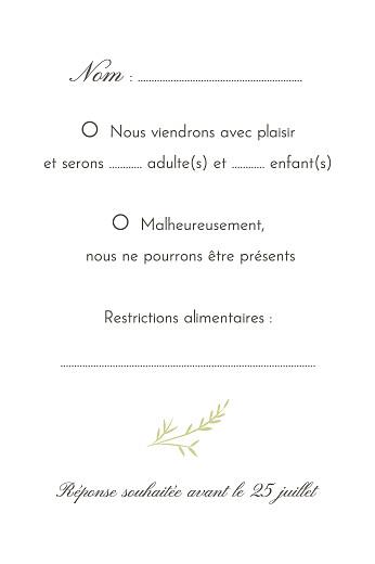 Carton réponse mariage Brins d'été bambou - Page 2