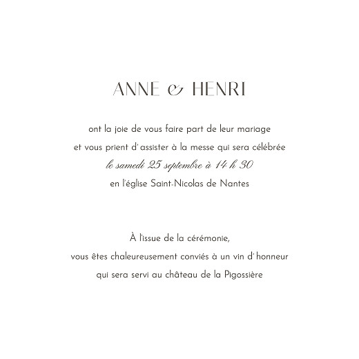 Faire-part de mariage Brins d'été (4 pages) lichen - Page 3