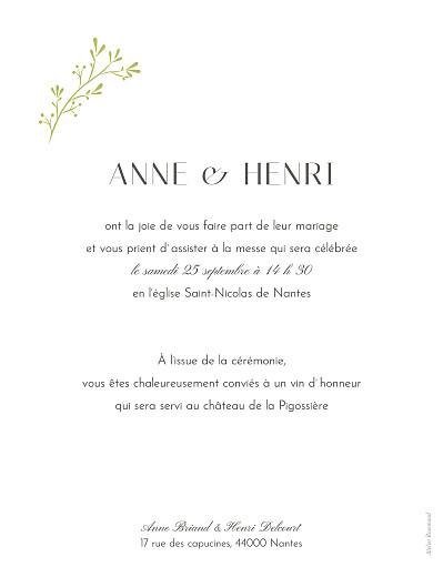 Faire-part de mariage Brins d'été bamboo - Page 2