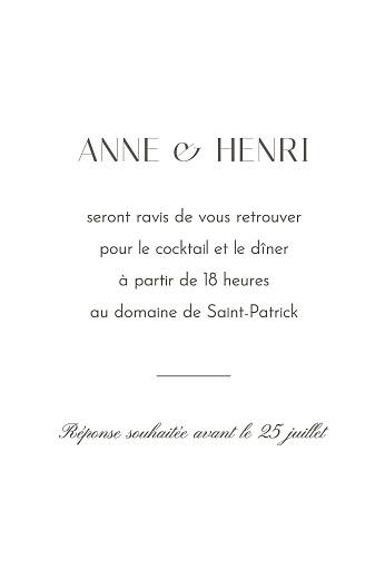 Carton d'invitation mariage Brins d'été lichen - Page 2