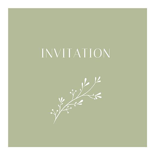 Carton d'invitation mariage Brins d'été lichen